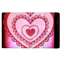 Heart Background Lace Apple iPad 3/4 Flip Case