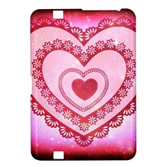 Heart Background Lace Kindle Fire Hd 8 9