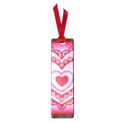 Heart Background Lace Small Book Marks