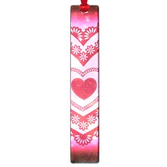 Heart Background Lace Large Book Marks