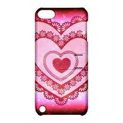 Heart Background Lace Apple Ipod Touch 5 Hardshell Case With Stand