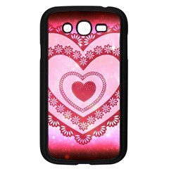Heart Background Lace Samsung Galaxy Grand Duos I9082 Case (black)