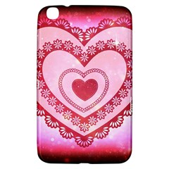 Heart Background Lace Samsung Galaxy Tab 3 (8 ) T3100 Hardshell Case