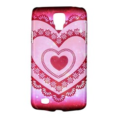 Heart Background Lace Galaxy S4 Active