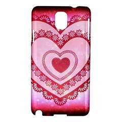 Heart Background Lace Samsung Galaxy Note 3 N9005 Hardshell Case
