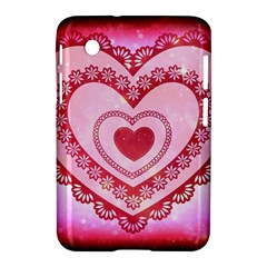 Heart Background Lace Samsung Galaxy Tab 2 (7 ) P3100 Hardshell Case