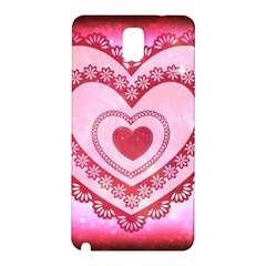 Heart Background Lace Samsung Galaxy Note 3 N9005 Hardshell Back Case