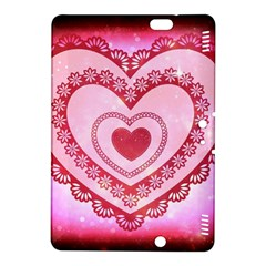 Heart Background Lace Kindle Fire Hdx 8 9  Hardshell Case