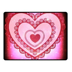 Heart Background Lace Double Sided Fleece Blanket (small)