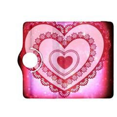 Heart Background Lace Kindle Fire Hdx 8 9  Flip 360 Case