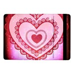 Heart Background Lace Samsung Galaxy Tab Pro 10.1  Flip Case Front