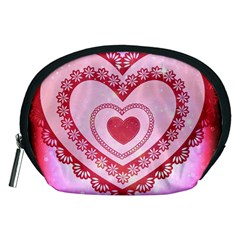 Heart Background Lace Accessory Pouches (medium)
