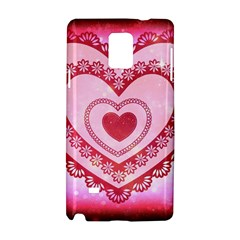 Heart Background Lace Samsung Galaxy Note 4 Hardshell Case