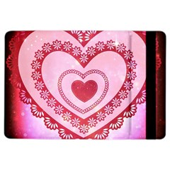 Heart Background Lace Ipad Air 2 Flip