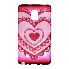Heart Background Lace Galaxy Note Edge
