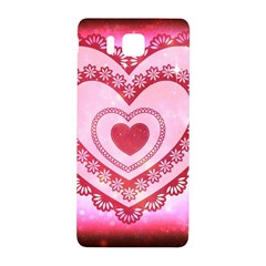Heart Background Lace Samsung Galaxy Alpha Hardshell Back Case