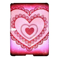 Heart Background Lace Samsung Galaxy Tab S (10 5 ) Hardshell Case