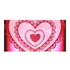 Heart Background Lace Satin Wrap