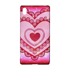 Heart Background Lace Sony Xperia Z3+