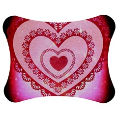 Heart Background Lace Jigsaw Puzzle Photo Stand (bow)