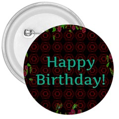 Happy Birthday! 3  Buttons