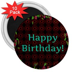 Happy Birthday! 3  Magnets (10 pack)
