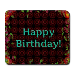 Happy Birthday! Large Mousepads