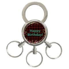 Happy Birthday! 3 Ring Key Chains