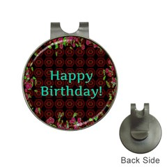 Happy Birthday! Hat Clips with Golf Markers