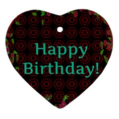Happy Birthday! Heart Ornament (Two Sides)