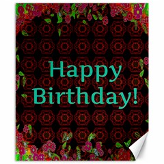 Happy Birthday! Canvas 8  X 10