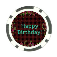 Happy Birthday! Poker Chip Card Guard