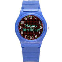 Happy Birthday! Round Plastic Sport Watch (s)