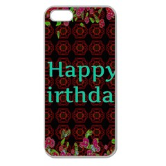 Happy Birthday! Apple Seamless Iphone 5 Case (clear)
