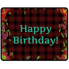 Happy Birthday! Double Sided Fleece Blanket (medium)