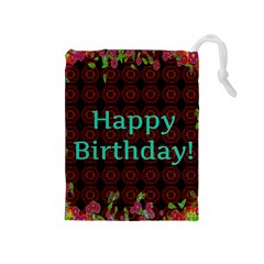 Happy Birthday! Drawstring Pouches (medium)