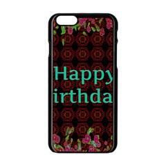 Happy Birthday! Apple Iphone 6/6s Black Enamel Case