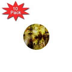 Grunge Texture Retro Design 1  Mini Buttons (10 pack)
