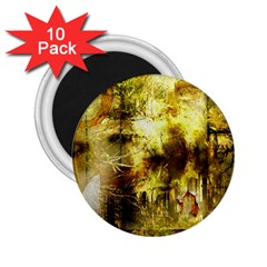 Grunge Texture Retro Design 2.25  Magnets (10 pack)