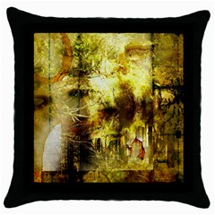Grunge Texture Retro Design Throw Pillow Case (Black)