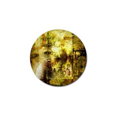 Grunge Texture Retro Design Golf Ball Marker