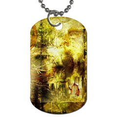 Grunge Texture Retro Design Dog Tag (Two Sides)