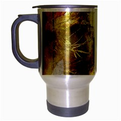 Grunge Texture Retro Design Travel Mug (Silver Gray)