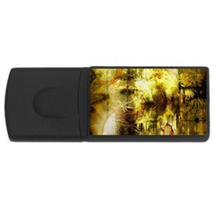 Grunge Texture Retro Design Usb Flash Drive Rectangular (4 Gb)