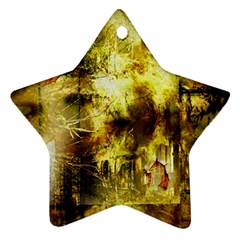 Grunge Texture Retro Design Star Ornament (Two Sides)