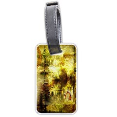 Grunge Texture Retro Design Luggage Tags (one Side)
