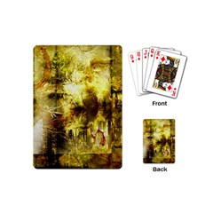 Grunge Texture Retro Design Playing Cards (mini)