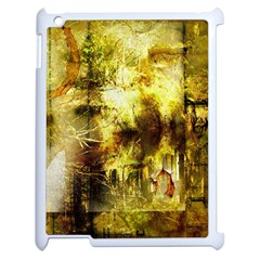 Grunge Texture Retro Design Apple iPad 2 Case (White)