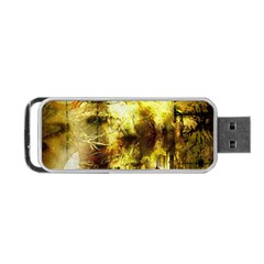 Grunge Texture Retro Design Portable Usb Flash (one Side)