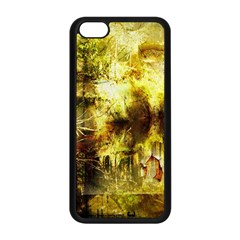 Grunge Texture Retro Design Apple Iphone 5c Seamless Case (black)
